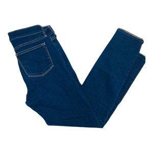 "J Crew Stretch Women Size 27 Dark Wash 9"" High Rise Skinny Denim Jeans"